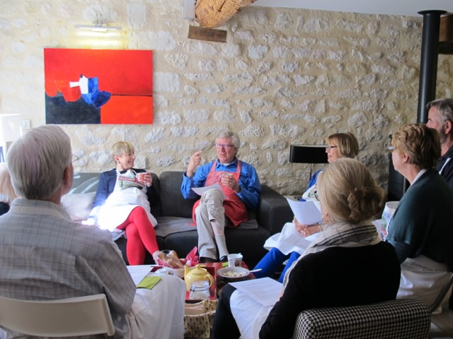 Coffee break--and Robin shares his philosophy of cooking--simple dishes, out with the whites, low glycemic index.