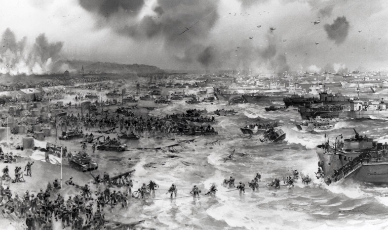 normandy landed 2018-5-316, 1944—the war's most celebrated d-day—when 156,000 men were landed on the beaches of normandy between the orne estuary and the southeastern end of the cotentin peninsula: 83,000 british and canadian troops on the eastern beaches, 73,000 americans on the western under eisenhower's.